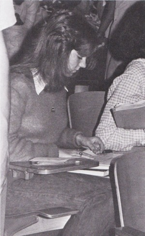 Linda Bixby folds her invitation order which had to accompanied by a $10 deposit.